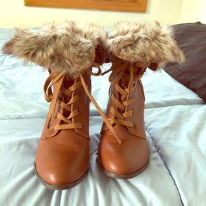 Fur booties.